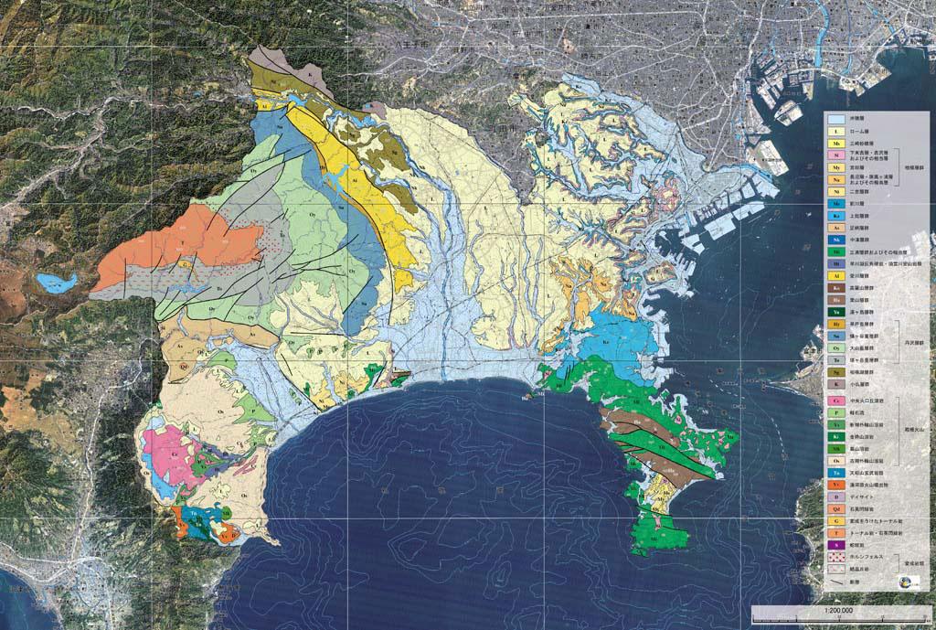 神奈川県の地質図 神奈川県の地質図
